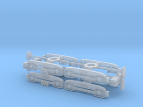 4x-F/D Series Bogie -1-mm adjustment-H0 Scale in Smooth Fine Detail Plastic