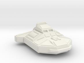 Space Corvette Miniature in White Natural Versatile Plastic