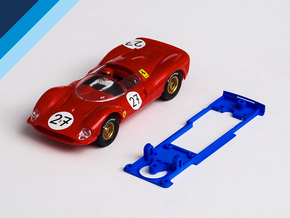 1/32 SCX Ferrari GT 330 Chassis for Slot.it SW pod in Blue Processed Versatile Plastic