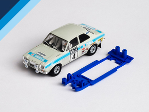 1/32 Scalextric Ford Escort Mk1 Chassis for IL pod in Blue Processed Versatile Plastic