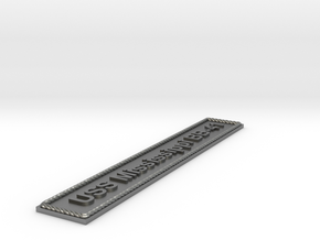Nameplate USS Mississippi BB-41 in Natural Silver