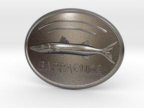 Barracuda Belt Buckle in Polished Nickel Steel