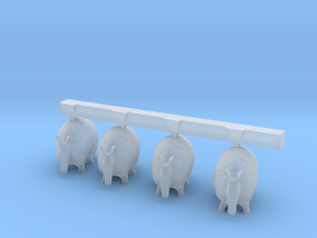 O Scale Cute Armadillos in Smooth Fine Detail Plastic