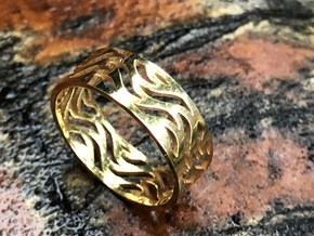 Waves of Love  in Polished Brass