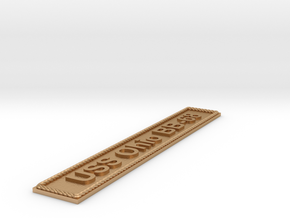 Nameplate USS Ohio BB-68 in Natural Bronze