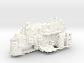 Ork Battleship in White Strong & Flexible Polished