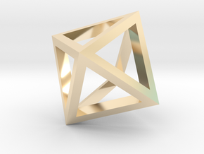 Octahedron mesh pendant in 14k Gold Plated Brass