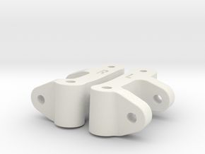 0008 - Dyna Storm H1+2, C-Hubs in White Natural Versatile Plastic