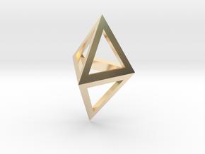 Double Tetrahedron pendant in 14K Yellow Gold