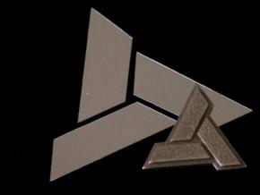 AC:Abstergo Pendant in Polished Bronzed Silver Steel