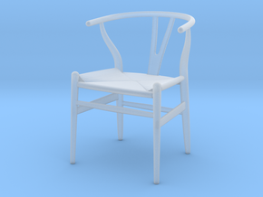 1:12 Chair Wishbone in Smooth Fine Detail Plastic