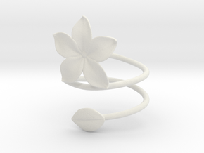 Bracelet Flower in White Strong & Flexible