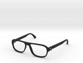 VirtualTryOn.fr Lunettes / Glasses : Steve in Black Natural Versatile Plastic
