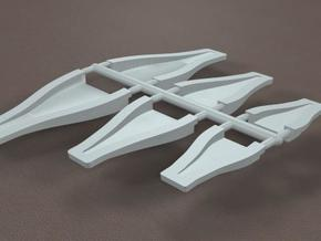 1/16 Scale NACA Duct Assortment in Smooth Fine Detail Plastic