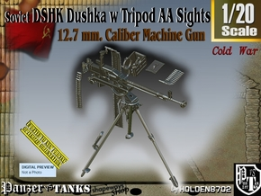 1/20 DSHK Dushka w-Tripod AA Sights  in Smooth Fine Detail Plastic