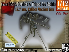 1/12 DSHK Dushka w-Tripod AA Sights  in Smooth Fine Detail Plastic