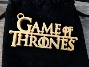 Game of Thrones keychain in Polished Gold Steel