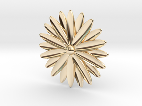 Hole Plug 0004 - flower in 14k Gold Plated Brass