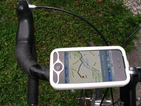 """iPhone 4 bike mount assembly 1"""" in White Natural Versatile Plastic"""