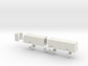 HO Scale Bus New Flyer D60 Muni 9100s in White Natural Versatile Plastic