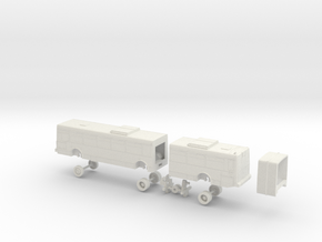 HO Scale Bus NABI 436 Samtrans 100s in White Natural Versatile Plastic