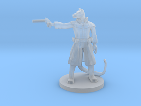 Catfolk Gunslinger - Pepperbox in Smooth Fine Detail Plastic