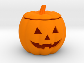 Halloween Pumpkin LED candle holder in Orange Processed Versatile Plastic