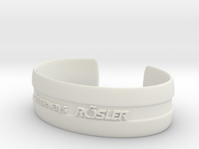 Bracelet Basic medium in White Natural Versatile Plastic