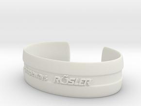 Bracelet Basic medium in White Strong & Flexible