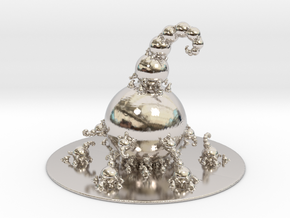 Jk Fractal Bulb  in Rhodium Plated Brass