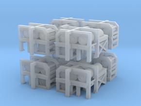 1/300 USN Depth Charge Loader Rack SET in Smooth Fine Detail Plastic