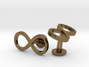 Infinity Wedding Cufflinks in Polished Bronze
