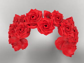 Rose Bracelet 01 in Red Strong & Flexible Polished