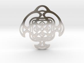 """""""Cradle"""" Pendant in Rhodium Plated Brass"""