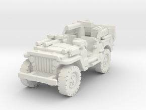 1/72 jeep SAS LRDG 5 in White Natural Versatile Plastic