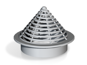 Vent Insert - 50mm hole spiral cone in White Natural Versatile Plastic