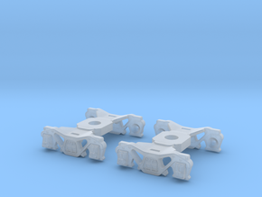2PK K4 Kiesel Tender trucks to fit Bachmann Pickup in Smoothest Fine Detail Plastic