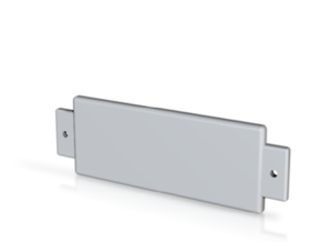 Name Plate A001 - blank engrave in White Natural Versatile Plastic
