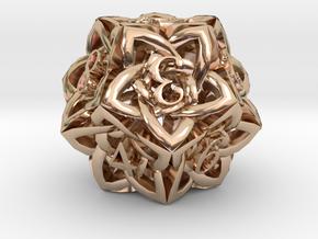 Celtic D12 in 14k Rose Gold Plated Brass