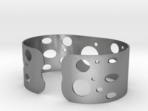 Circles bracelet in Natural Silver