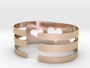 Valentine Heart bracelet in 14k Rose Gold Plated Brass