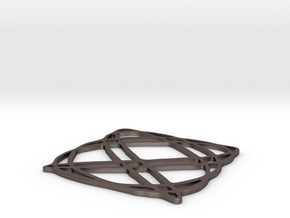 Lissajous coaster 4:5 pi/4 in Polished Bronzed Silver Steel