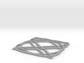 Lissajous coaster 4:5 pi/4 in Aluminum