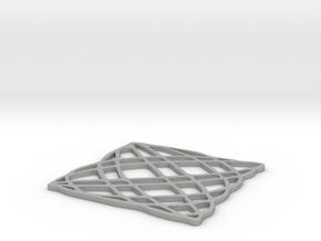 Lissajous coaster 5:6 pi/4 in Aluminum