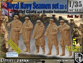 1/35 Royal Navy Duffel Coat Set201-3 in Smooth Fine Detail Plastic