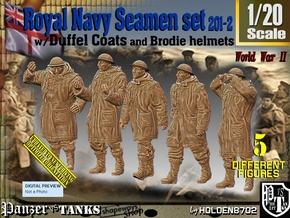 1/20 Royal Navy Duffel Coat Set201-2 in White Natural Versatile Plastic