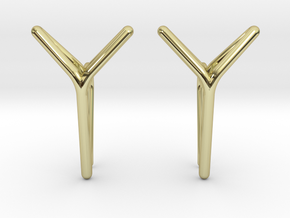 YOUNIVERSAL One Earrings in 18k Gold Plated: Small