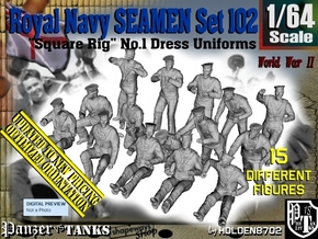 1/64 Royal Navy Seamen Set102 in Smooth Fine Detail Plastic
