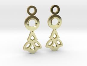 Little Flowers. Earrings in 18k Gold Plated Brass