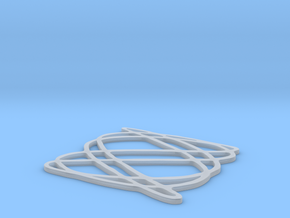 Lissajous coaster 3:5 pi/4 in Frosted Ultra Detail